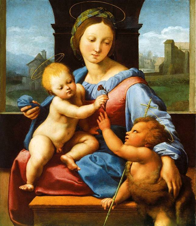 an essay on raphael and bellinis versions of madonna and child An essay on classical oil painting my favorite of the many versions of this sandro botticelli (alessandro filipepi), madonna and child (madonna col.